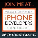 Join me at Voices that Matter iPhone Developers Conference