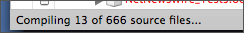 Compiling 666 files