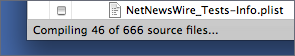 Compiling 46 of 666 source files