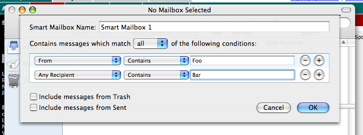 Mail smart mailbox creator
