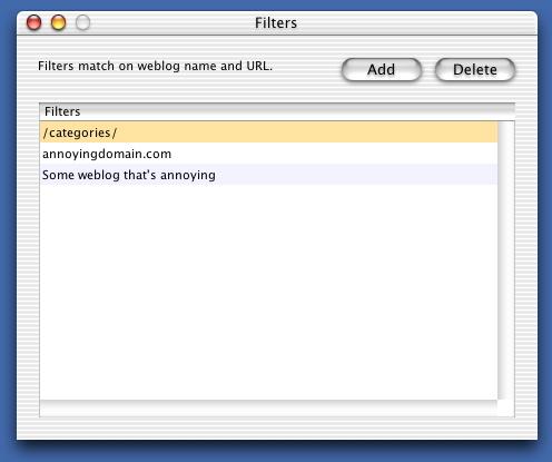 Blogoscope filters