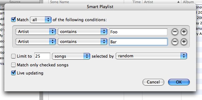 iTunes smart playlist creator
