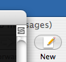 Mail New button in background