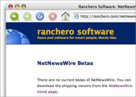 No NetNewsWire betas