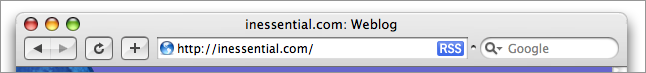 Safari with unified title/toolbar